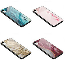 Luxury Glass Bumper Case Personalised Marble Flowing Name with Heart K41 XR, S10