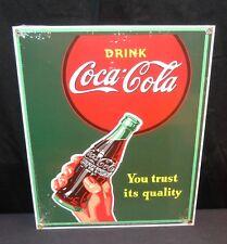 "NOS Coca Cola ""YOU TRUST IT'S QUALITY"" Porcelain Ande Rooney Coke 11.25"" X 9"""