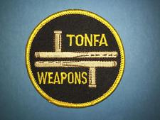 Vintage 1980's Tonfa Weapons Karate Kung Fu Martial Arts Jacket Patch Crest 635