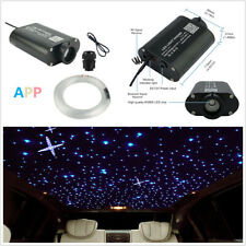 DIY Car 12V RGBW 300Pcs 2M LED Fiber Optic Light Star Ceiling Kit 12W Music Mode