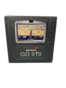 "TomTom GO 910 Car Portable GPS Navigator USA Canada Europe Maps 4"" Touchscreen"