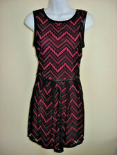 NWT Speechless Black Lace Over Pink Dress Junior Size 11