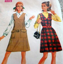 *LOVELY VTG 1960s JUMPER & SHIRT Sewing Pattern 16/38