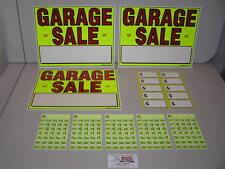 Garage Sale Signs Amp Pre Priced Label Kit Free Ship