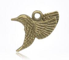 10 Pcs Antique Bronze Swallow Charm Pendants 18x14mm LC1945
