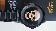 Relogio Masculino LIGE Mens Watches New Skull Watch Men's Military Sports Watch