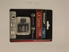 Patriot 64GB LX Series Micro SD Card PS001073