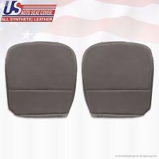 2010 Ford F250 F350 F450 F550 XL Driver & Passenger Bottom Vinyl Seat Cover Gray