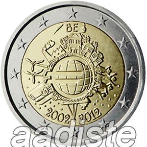 2 EURO 2012 BELGIO BELGIEN BELGIQUE BELGIUM - TYE ANNIVERSARIO EURO - FDC UNC