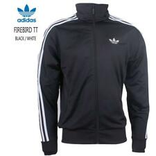 adidas Originals Men's Firebird Tracksuit Jackets Sports Gym Track Tops Black