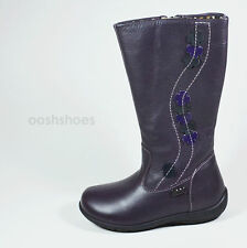 Primigi Girls Giova Purple Leather  Zip Boots UK 9 EU 27 US 9.5 RRP £55.00