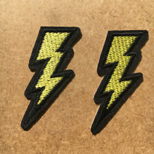 2pc Lightning Embroidered Cloth Iron On Patch Applique Crash Craft #958