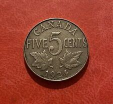 Canada 1924 5 Cents - George V