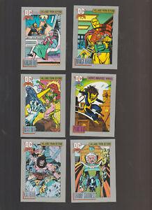 Lot of 6 DC comic trading cards Panthra Manga Khan Maxima Pub. 1991 Impel