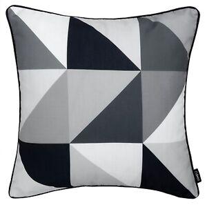 Geometric Cushion Black White Grey Monochrome Top Throw Sofa Cover UK 45cm 18in