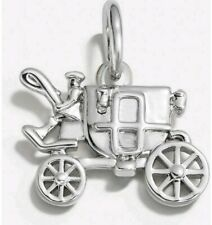 NIB Coach Carriage Charm Small Silver For Bracelet/Necklace 56768