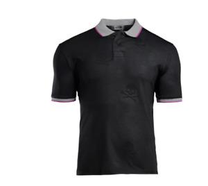 G4 G/Fore Killer Embossed Black Men's Golf Polo Shirt G4MS20K07 NEW NWT