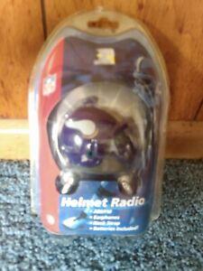 NFL  Mini AM/FM Helmet Radio - Vikings