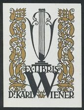Bookplate Exlibris Vienna Wiener Werkstatte artist Dr. Rudolf Junk c.1915