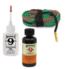 Gun Bore Cleaner and Hoppes Lube Oil with Cleaning Snake for .40 Caliber Pistol