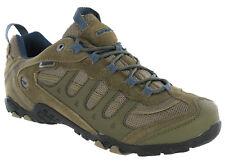 Hi-tec Penrith Low Waterproof Walking Hiking Trainers Brown / Majolica Blue Mens
