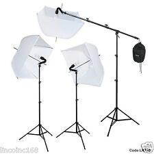 Studio Photography Photo Equipment White Softbox Umbrella Boom Stand Light Kit