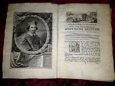Libro Antico 1733 Le Tragedie Cleopatra Lucrezia Creso e Medoro Giovanni Delfino
