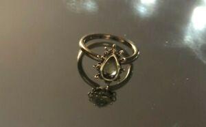 Anthony Nak 18k Gold Ring Yellow Beryl Size 6 Pear Shaped Gorgeous
