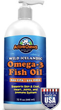 New listing New Active Chews Wild Icelandic Omega 3 Fish Oil for Dogs- Immune Health 32 Oz