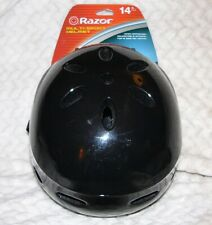 "Razor V17 Skateboard/Scooter/Bike Sport Helmet Glossy Black size 14+Adult 23~25"""