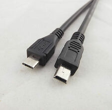 Micro 5 Pin USB B Male To Mini 5 Pin USB Male Data Adapter Converter Cord Cable