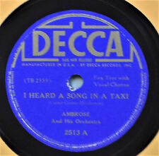 Ambrose I Heard a Song in Taxi 78 NM Decca 2513 There's a New World Dance Band