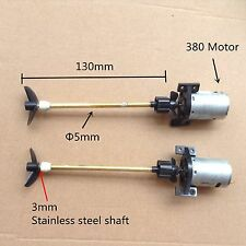 A pair 380 Motor 13cm Shaft Drive with Propeller for small RC boat #1627