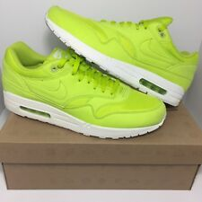 Nike Air Max 1 Ripstop Nylon Atomic Green Colt Tennis Ball Neon (SIZE 13)