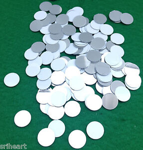 100 Round Plastic Shisha Mirrors for Embroidery Quilting Craft -15mm -M9