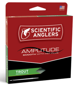 SCIENTIFIC ANGLERS Amplitude Smooth w/ AST Plus Trout Freshwater Fly Line WF-6-F