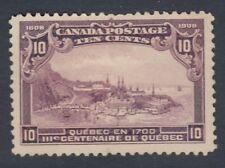 """Canada MINT NG Scott #101 10 cent Quebec in 1700 """"Quebec Tercentenary""""  F"""