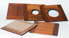 "1 LENS BOARD 5.25x 5.25"" (132.5mm Sq.) to WISNER 8x10"" Solid Mahogany, free hole"