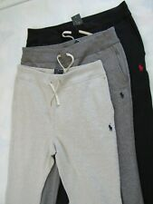 POLO RALPH LAUREN SWEAT-PANTS, FLEECE, ATHLETIC DRAWSTRING, NAVY, GREY, ALASKAN