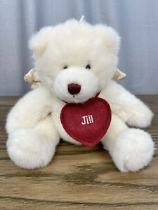 "Small Angel Bear Plush 8.5"" Tall Personalized w/ ""Jill"" Name - GANZ Brand 2001"