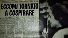 L'ESPRESSO settembre 1973  Alekos PANAGULIS Scialojia