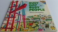 Busy Day Busy People by Tibor Gergely 1973 Vintage Paperback, Free Shipping!