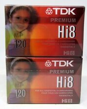 TDK Digital 8/Hi8120 Camcorder Video Cassette Tape  Two Pack