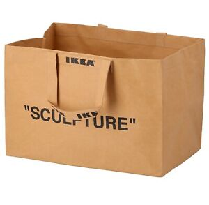Virgil Abloh (Off White) Ikea Sculpture Carrier Bag LARGE Markerad Free Shipping