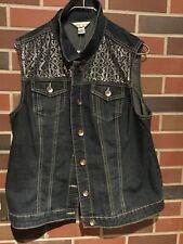 Christopher & Banks~Women's Sparkly Rhinestone Vest Size XL NWT