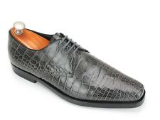 Mint Prada Gray Alligator Skin Lace-up Derby 6.5 EU / 8 US  Worn Once