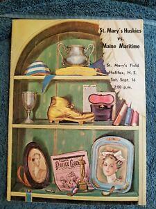 9/16/67 ST. MARY'S HUSKIES VS MAINE MARITIME INTERCOLLEGIATE FOOTBALL PROGRAM