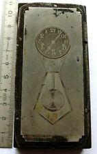Plaque Imprimerie horloge clock uhr tiges regulateur carillon pendule no odo 23
