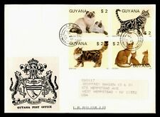 Dr Who 1988 Guyana Fdc Cats C238019