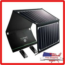 RAVPower Solar Panel Charger 16W with Dual USB Port Waterproof Foldable